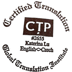 Kateřina Lu - English to Czech translator