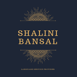 Shaalini Bansal - English to Hindi translator