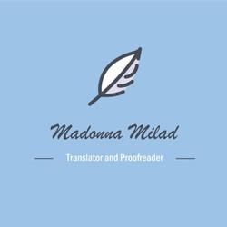 Madonna Milad - inglés a árabe translator