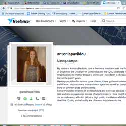 Antonia Pavlidou - angielski > grecki translator