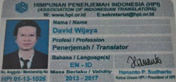 David Wijaya - English to Indonesian translator